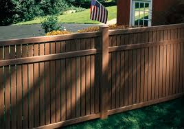 brown vinyl fence panels. Bufftech Imperial Select Cedar Vinyl Semi-Privacy Fencing By City Fence - Buffalo, NY \u0026 Western New York Brown Panels