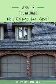 average new garage door cost