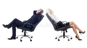 office furniture for women. Download Business Woman And Man Sitting On Office Chairs Isolate Stock Photo - Image Of Furniture For Women F