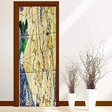 Nautical Chart Wall Mural Amazon Com L Qn Door Sticker Wall Murals Decals Old