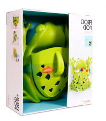 frog bath toy holder boon frog pod bath toy scoop green