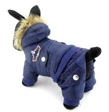 selmai small dog apparel airman fleece winter coat snowsuit hooded jumpsuit waterproof this style run