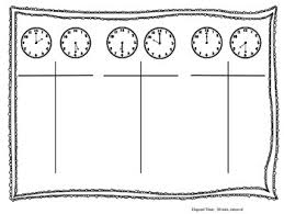 T Chart For Teaching Elapsed Time Elapsed Time Using T Chart Worksheets Teaching Resources Tpt