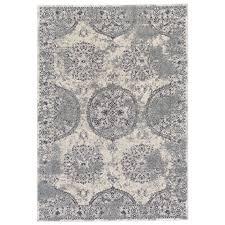 8 x 11 large silver and beige area rug akhari