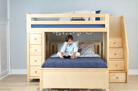 Natural Cherry Bedroom Furniture Youth Bunk Beds Kids Beds Hardwood Quality Value Prices