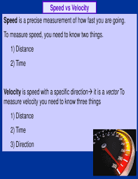Speed Vs Velocity Fillable Online Speed Vs Velocity Fax Email Print Pdffiller