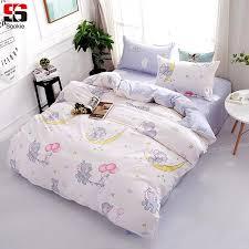 sookie cute cartoon bedding set elephant print duvet cover sets soft bedclothes twin full queen king size bed linen bedding sets king zebra print bedding