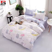 sookie cute cartoon bedding set elephant print duvet cover sets soft bedclothes twin full queen king size bed linen bedding sets king zebra print bedding