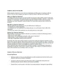 general job objective resume examples example of an objective on a resume inssite