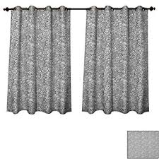 Amazon.com: Black and White Bedroom Thermal Blackout Curtains ...