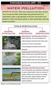 Types Of Water Pollution Chart Jagruti Water Pollution Educational Charts Wall Hanging