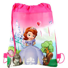 1PCS/LOT Birthday Party Girls <b>Kids Favors Gifts</b> Bags <b>Sofia Princess</b> ...