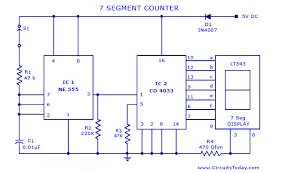 7 segment clock circuit diagram the wiring diagram 7 segment counter circuit diagram wiring diagram wiring diagram