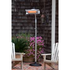 electric infrared patio heater fire sense stainless steel telescoping offset pole mounted infrared pa