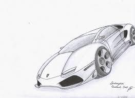 Auto Tekening Zijkant Schets Kleurplaten Autos Lamborghini Archidev