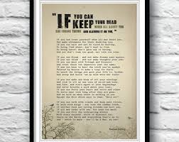 if rudyard kipling if poem poem print poster wall by redpostbox  if rudyard kipling if poem poem print poster wall by redpostbox