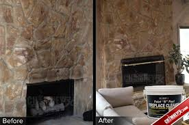 02 large stone fireplace smoke stains before after paint n p