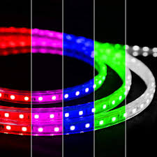 Rgb Rope Light Us 36 39 35 Off Flexible Led Rgb Rope Light Strip Multi Color Changing Smd 5050 Leds 110 120v Ac Dimmable Waterproof Indoor Outdoor In Lighting