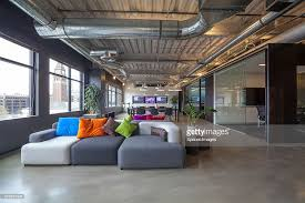 office seating area. Sofas In Office Seating Area : Stock Photo R