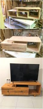 wood pallet tv stand diy wooden cabinet corner