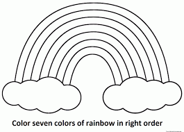 Small Picture Rainbow Coloring Page Printable Color Sheet Pages For Kids Simpl