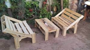 pallet outside furniture. Recycled Pallet Outdoor Furniture Set Outside