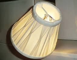 posh candle lampshade clip on chandelier cream shade pinch pleated poly silk bn