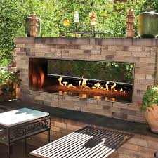 white mountain hearth by empire outdoor linear see through 48 inch vent free propane gas fireplace w manual electronic ignition
