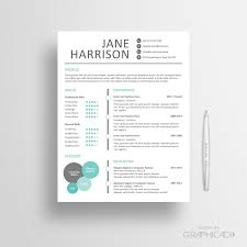 Modern Graphic Resume Template Modern Creative Resume Templates Etsy Template Cover Sheet Word And