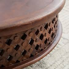 If this is the situation, the table needs being large enough to support snacks. Carved Wood Coffee Table