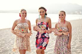 destination wedding bridesmaids dresses. destination wedding bridesmaids wearing printed dress beach dresses w