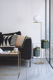 living room lighting guide. Tagged: Living Room, Sofa, Coffee Tables, Lamps, Floor Lighting, Terrazzo Floor, And Concrete Floor. Photo 7 Of 13 In A Helpful Guide To Room Lighting