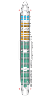 Emirates Airlines Boeing 777 300er Economy Class Seating