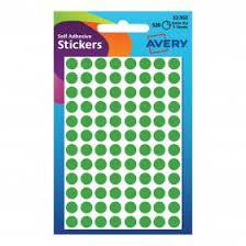 Avery Packets Of Labels Round Diam 8mm Green 32 302 10x560 Labels