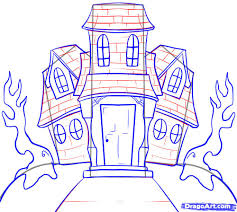 Drawn haunted house simple #1