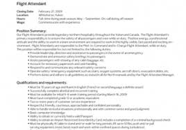 Free Download Sample Flight Attendant Sample Resume Entry Level ...