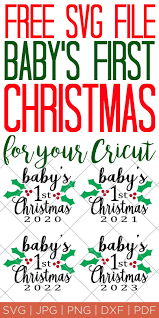 Free easter gnomes svg, png, eps & dxf by caluya design. Baby S First Christmas Ornament Free Svg File The Country Chic Cottage