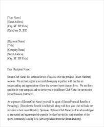 Proposal Letter For Sponsorship Sample For Event Sample Sponsorship Proposal Letter Pr Helper Sample Club
