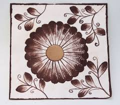 Amate Paper Designs Small Hand Painted Artistic Design Amate Paper Wall Art