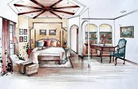 Coolest Interior Design Bedroom Sketches 71 With Additional Interior