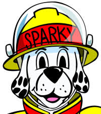 sparky the fire dog. this year fire prevention week is focusing on having smoke alarms in every bedroom. join sparky the dog, to learn more about and why it dog