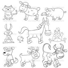 Beautiful Farm Animal Coloring Book 24 For Your Free Coloring Kids