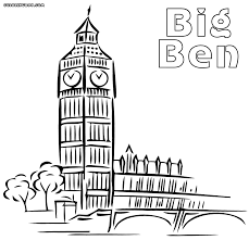 Big Ben coloring pages | Coloring pages to download and print