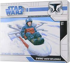 The gizmo shows a yeti named burt riding his sled down a steep hill. Amazon Com Snow Sled Star Wars Inflatable X Wing Fighter Sports Outdoors