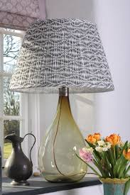 Lampshades By Design Block Printed Lampshade By Samarkand Design Lamp
