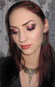 1 mugeek vidalondon gold copper and wine eye makeup tutorial steunk