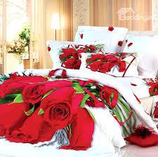 red rose comforter set white