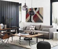 view in gallery black vertical wall paneling in a room designed by cb2