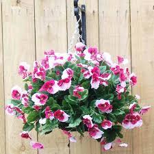 outdoor artificial hanging flower baskets whole artificial azalea specifications hanging basket specifications outdoor outdoor silk hanging