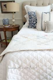 french vintage bedding french style guest room upholstered headboard french antiques